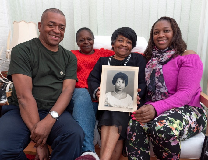 Herma Hansle with her family in Smethwick