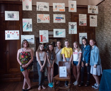 Pupils from St Michael's School, Rowley Regis, presenting 'Seven' at Haden Hill House Museum